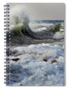 Winter Waves At Whitefish Dunes Spiral Notebook