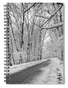 Winter White Spiral Notebook