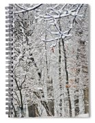 Winter White Trees Spiral Notebook