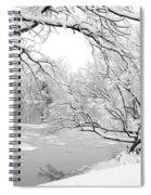 Winter Wonderland In Black And White Spiral Notebook