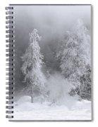 Winter Wonderland Of Yellowstone Spiral Notebook