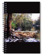 Winter Woods With Melting Snow Spiral Notebook