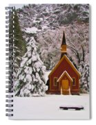 Winter Yosemite Chapel Spiral Notebook