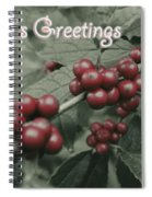 Winterberry Greetings Spiral Notebook