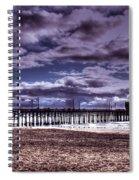 Winters Beach Solitude Spiral Notebook