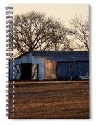Winter's Cow Barn Spiral Notebook