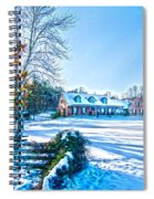 Winters Day Photo Art From The Fence Spiral Notebook