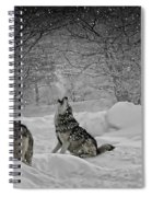 Winters Eve Howling Spiral Notebook