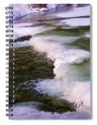 Winters Ice Spiral Notebook