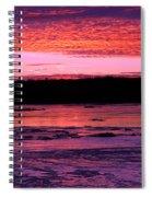 Winter's Sunset Spiral Notebook
