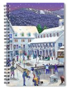 Wintertime At Waterville Valley New Hampshire Spiral Notebook