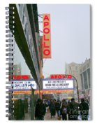 Wintry Day At The Apollo Spiral Notebook