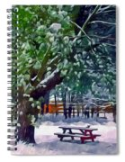 Wintry  Snowy Trees Spiral Notebook