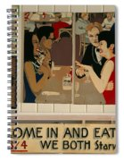 Wintzell's Oyster House Sign - Mobile Alabama Spiral Notebook