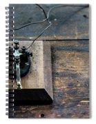 Wire Message Spiral Notebook