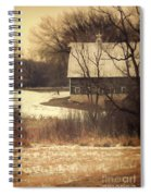 Wisconsin Barn In Winter Spiral Notebook