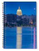 Wisconsin Capitol Reflection Spiral Notebook