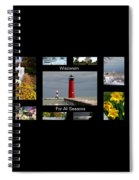 Wisconsin For All Seasons Spiral Notebook