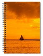 Wisconsin Point Lighthouse Sunrise 1 A Spiral Notebook