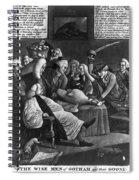 Wise Men Of Gotham, 1776 Spiral Notebook