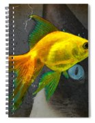 Wishful Thinking - Cat And Fish Art By Sharon Cummings Spiral Notebook