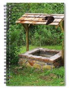 Wishing Well And Cat Spiral Notebook