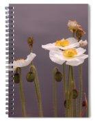 Wispy White Floral Spiral Notebook
