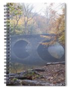 Wissahickon Creek And Bells Mill Road Bridge Spiral Notebook