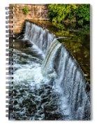 Wissahickon Dam At Ridge Avenue - Side View Spiral Notebook