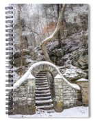 Wissahickon Steps In The Snow Spiral Notebook