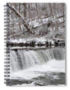 Wissahickon Waterfall In Winter Spiral Notebook