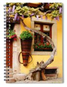 Wisteria And Yellow Wall In Alsace France Spiral Notebook