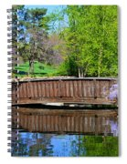Wisteria In Bloom At Loose Park Bridge Spiral Notebook