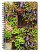 Wisteria On A Home In Zellenberg France 3 Spiral Notebook