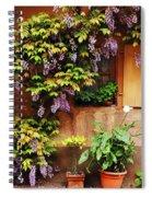 Wisteria On Home In Zellenberg France Spiral Notebook