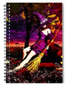 Witch In The Pumpkin Patch Spiral Notebook