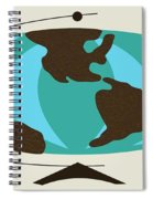 Witco World Map Spiral Notebook