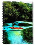 With A Paddle Spiral Notebook