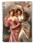 With A Rose Spiral Notebook