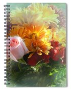With Love Flower Bouquet Spiral Notebook