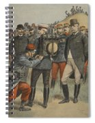 With The Army Manoeuvres The Duke Spiral Notebook