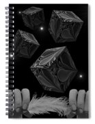With The Lightest Touch Bw Spiral Notebook