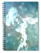 Withering Away - Aqua Sparkle Spiral Notebook