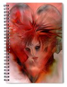 Within A Glass Heart Spiral Notebook