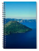 Wizard Island In Crater Lake, Oregon Spiral Notebook