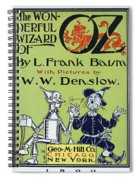 Wizard Of Oz Book Cover  1900 Spiral Notebook