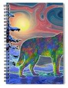 Wolf Gaze Spiral Notebook