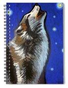 Wolf Howl Spiral Notebook