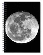 Wolf Moon Waning Spiral Notebook