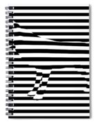 Wolf Optical Illusion Spiral Notebook